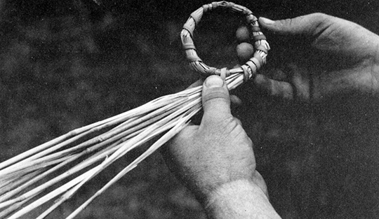 Rope ring of two inches diameter