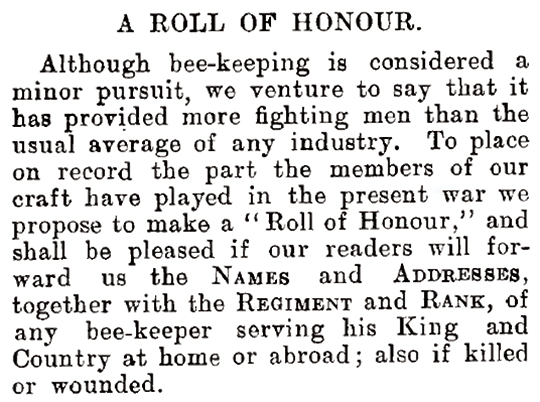 "Notices from the BBJ regarding the ""Roll of Honour"""