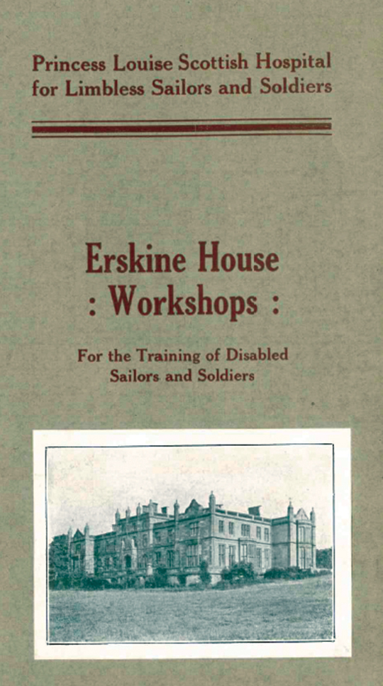 Cover and Pages from Erskine House Workshops.